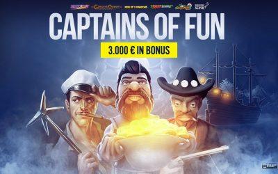 CAPTAINS OF FUN: 3.000 € in palio!
