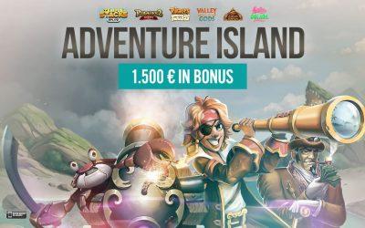 ADVENTURE ISLAND: 1.500 € in palio!
