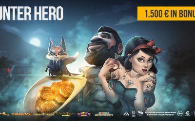 HUNTER HERO 1.500€ in palio!